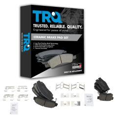 99-08 Acura TL Front & Rear Premium Posi Ceramic Brake pad Set