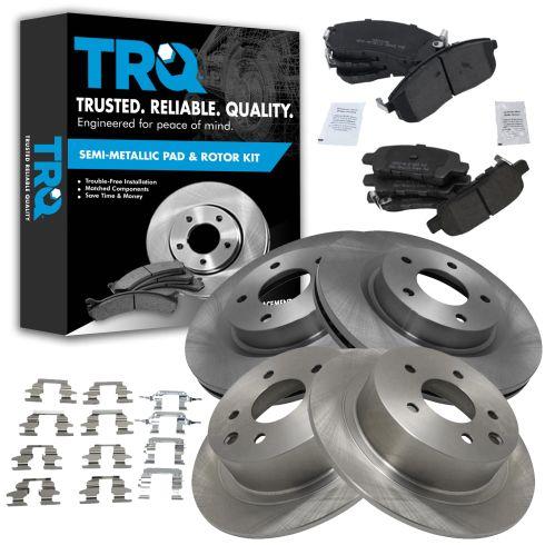 07-09 Nissan Altima Posi Metallic Pad & Rotor Kit Front & Rear