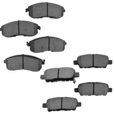 07-12 Sentra Front & Rear Metallic Brake Pad Kit