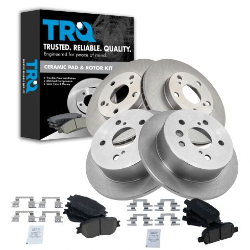 VTDC000147 Front and Rear Premium Quality Ceramic Brake Pads Kit