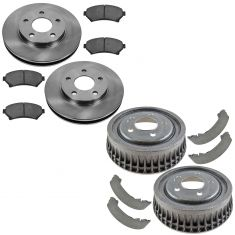 97-03 Buick Century Front & Rear Ceramic Brak ePad, Rotor, Drum & Shoe Kit
