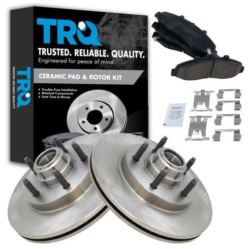 00-04 F150; 02 Blackwood 2wd Front Brake Rotor & Ceramic Pad w/Hardware Kit