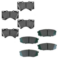 07-12 Toyota Tundra Front & Rear Brake Pad Kit