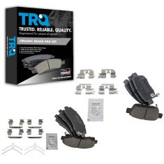 Acura TL; Honda Ridgeline Front & Rear Ceramic Disc Brake Pad Kit