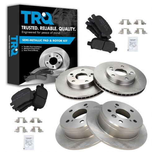 VTSMDC000083 Front and Rear Top Quality Semi-Metallic Brake Pads Kit