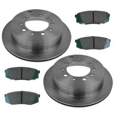 08-14 LX570; 08-14 Land Cruiser; Sequoia; 07-14 Tundra Rear Posi Ceramic Brake Pad & Rotor Kit