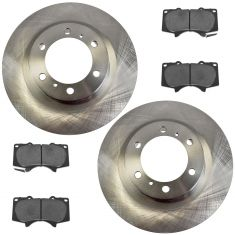 10-16 GX460; 10-15 4Runner Front Premium Posi Ceramic Brake Pad & Rotor Kit