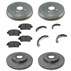 04-06 Scion xA; xB Front & Rear Ceramic Brake Pad Shoe Drum & Rotor Kit