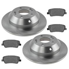 10-14 Santa Fe,11-14 Sorento Rear Premium Posi Metallic  Brake Pad & Rotor Kit