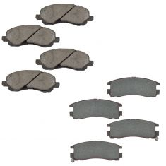 2004-12 Eclipse Front & Rear Ceramic Brake Pad Kit