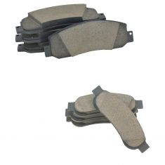 08-11 F250; 08-12 F350 Front & Rear Premium Posi Ceramic Disc Brake Pad Kit