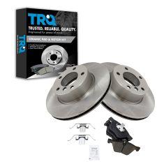 08-13 BMW 128i Front Premium Posi Ceramic Brake Pad & Rotor Kit Set