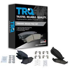 Ford Lincold Multifit Front & Rear Premium Posi Ceramic Disc Brake Pad Kit