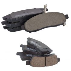 05-16 Frontier; 05-15 Xterra; 09-12 Equator Front & Rear Premium Posi Ceramic Disc Brake Pad Kit