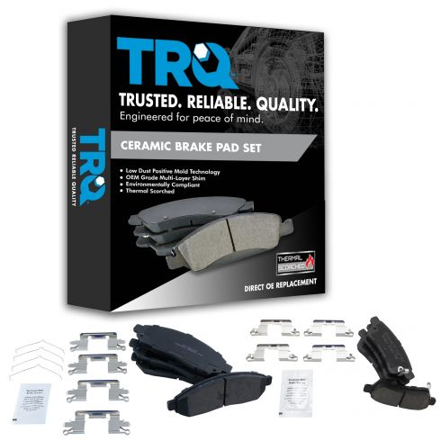 05-16 Frontier; 05-15 Xterra; 09-12 Equator Front & Rear Premium Posi Ceramic Disc Brake Pad Kit