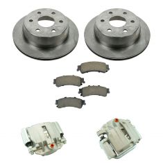 03-07 Silverado 1500 NEW Rear Disc Brake Caliper, Ceramic Brake Pad & Rotor Kit