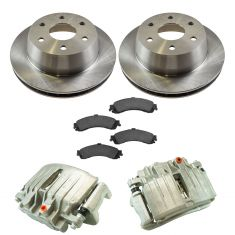 03-06 Silverado 1500 NEW Rear Disc Brake Caliper, Ceramic Brake Pad & Rotor Kit