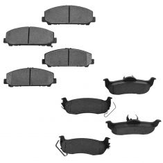 06-11 Armada; 08-10 Titan; 06-10 QX56 Front & Rear Ceramic Disc Brake Pad Kit