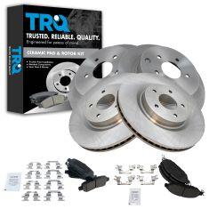 13 JX35 14-15 QX60 15-16 Murano 13-15 Pathfinder Front & Rear Posi Ceramic Pads & Rotor kit