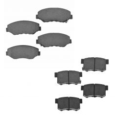 Acura Honda Multifit Front & Rear Premium Posi Ceramic Disc Brake Pad Kit