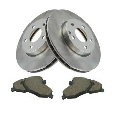03-09 Mercedes E320, E350 Front Posi Ceramic Brake Pad & Rotor Set