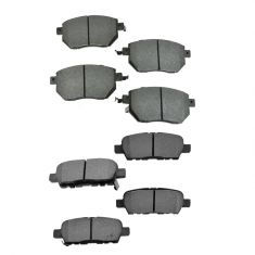 Infiniti Nissan Multifit Front & Rear Premium Posi Semi Metallic Disc Brake Pad Kit