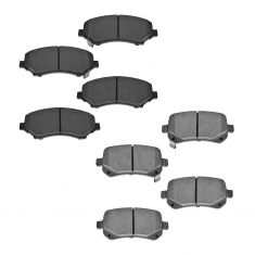 Chrysler Dodge VW Multifit Front & Rear Premium Posi Ceramic Disc Brake Pad Kit