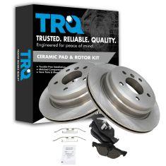 07-13 328i, 09-12 328ixDrive, 07-08 328 xi 13-14 X1 Rear Premium Posi Ceramic Brake Pads & Rotor Kit