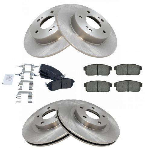 2002 2003 2004 Fits Infiniti I35 Rotors Ceramic Pads F+R OE Replacement