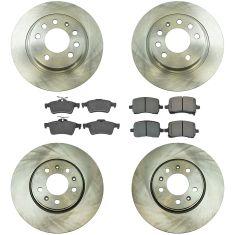 06-09 Solstice, 07-10 Sky Front & Rear Posi Semi Metallic Brake Pad & Rotor Kit