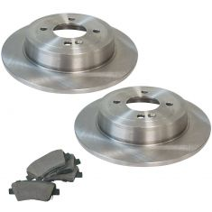12-16 Accent; Rio Rear Premium Posi Ceramic Brake Pad & Rotor Kit