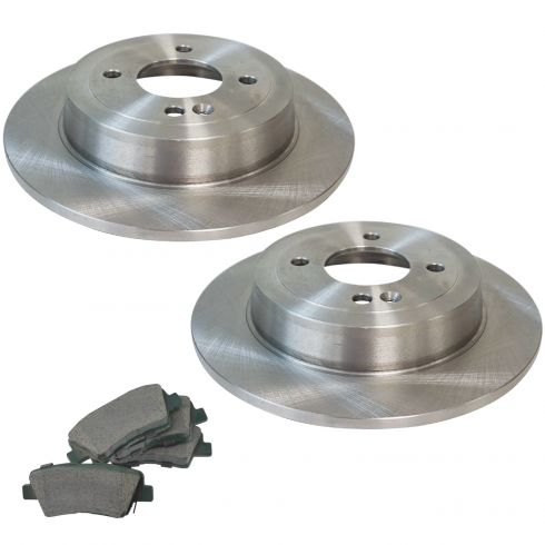 Rear Premium Posi Ceramic Disc Brake Pads /& Rotor Kit for Hyundai Accent Rio New