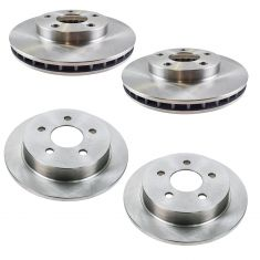 99-04 Alero; 99-05 Grand Am Front & Rear Disc Brake Rotor Kit