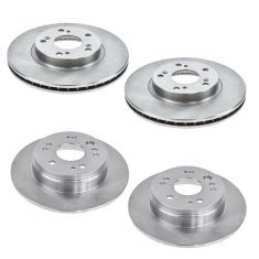 02-04 Honda CR-V Front & Rear Brake Rotor Kit