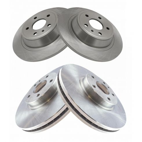 2013 2014 Ford Fusion Disc Brake Rotors and Free Pads 302mm Rotor Rear