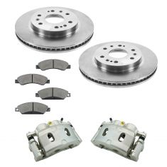 Cadillac Chevrolet GMC Muilti Fit Front Brake Caliper , Ceramic Pads & Rotors Kit
