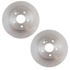 08-09 C230; 10-15 C250; 08-12 C300 Rear Disc Brake Rotor Pair