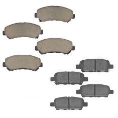 08-13 Rogue; 14-15 Rogue Select; 07-08 Sentra Front & Rear Posi Ceramic Pad Kit