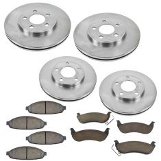 03-11 Town Car (Exc. Limo) Front & Rear Premium Posi Ceramic Brake Pad & Rotor Kit