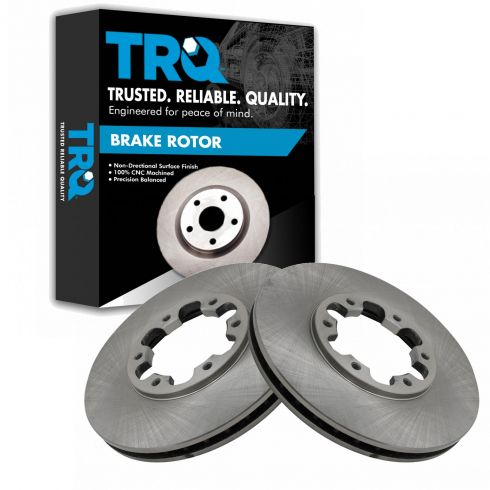 Front 283 mm Brake Rotors And Ceramic Pads For Infiniti QX4 Nissan Pathfinder