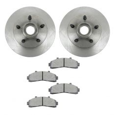 Brake Pad & Rotor Kit w/Brake Fluid & Cleaner