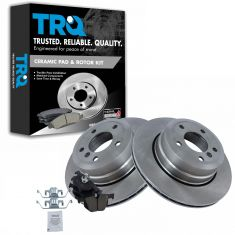 Brake Pad & Rotor Kit w/Brake Fluid & Cleaner