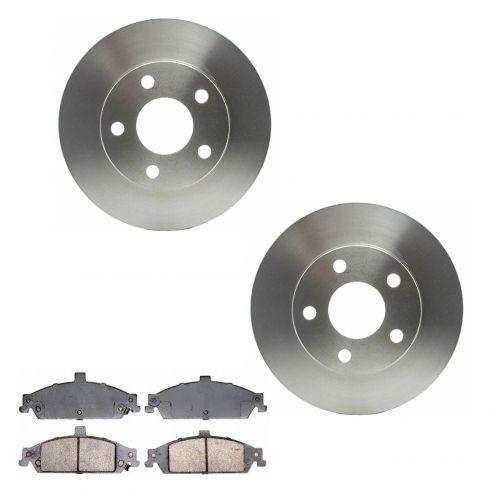Front Disc Brake Rotor & Pad Set (Raybestos Professional Grade) SGD727C, 56655R