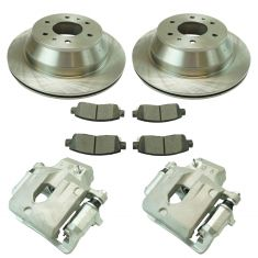 02-09 Trailblazer NEW Rear Brake Caliper, Ceramic Pad & Rotor Kit (Raybestos)