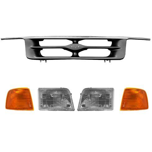 1995 97 Ford Ranger Grille Headlights Corner Lights Kit 1abgk00033