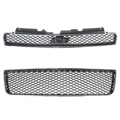 06-14 Impala SS, Police Chrome & Black Lower Center & Upper Grille PAIR