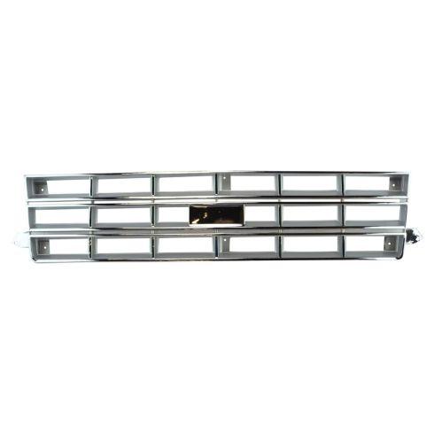 83-90 Chevy S10 Blazer Grille Chr/Sil