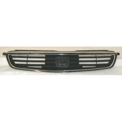 1996-98 Honda Civic 4 Door Sedan Chrome and Black Grill