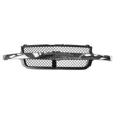 01-02 Chevy Silverado 2500HD, 3500HD Dark Gray Honeycomb w/Chrome Center Bar Grille