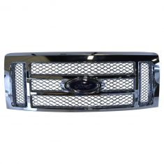 09-14 Ford F150 Lariat 2 Bar Chrome Mesh Grille w/Ford Emblem (Ford)